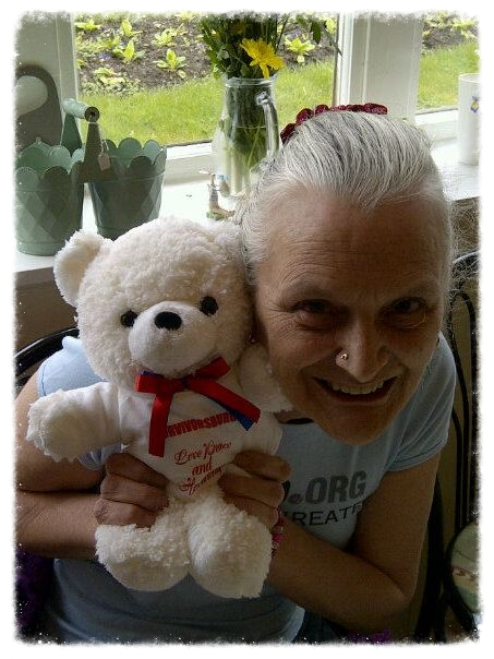 Love Peace and Harmony,Teddy Bear, May Thomson, Poet Laureate,