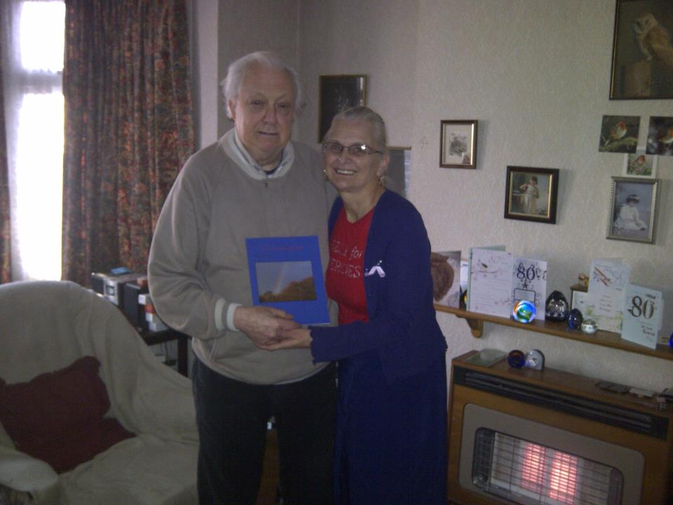 Micheal Carter (uncle Mick) with Book